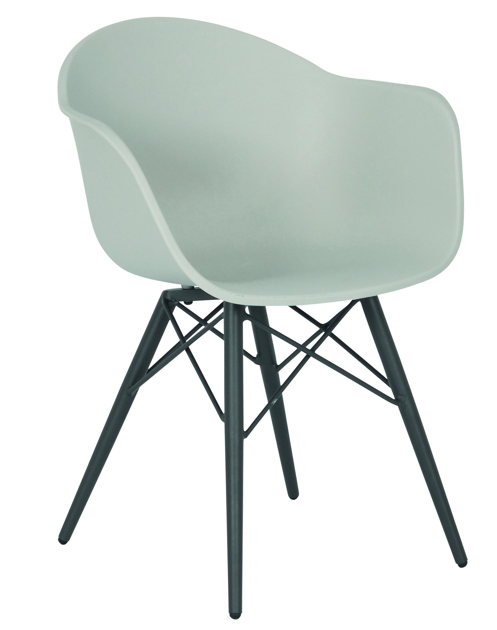 Acamp Gartensessel Schalensessel New York Gartenstuhl Stuhl Grau Stühle 2er Set