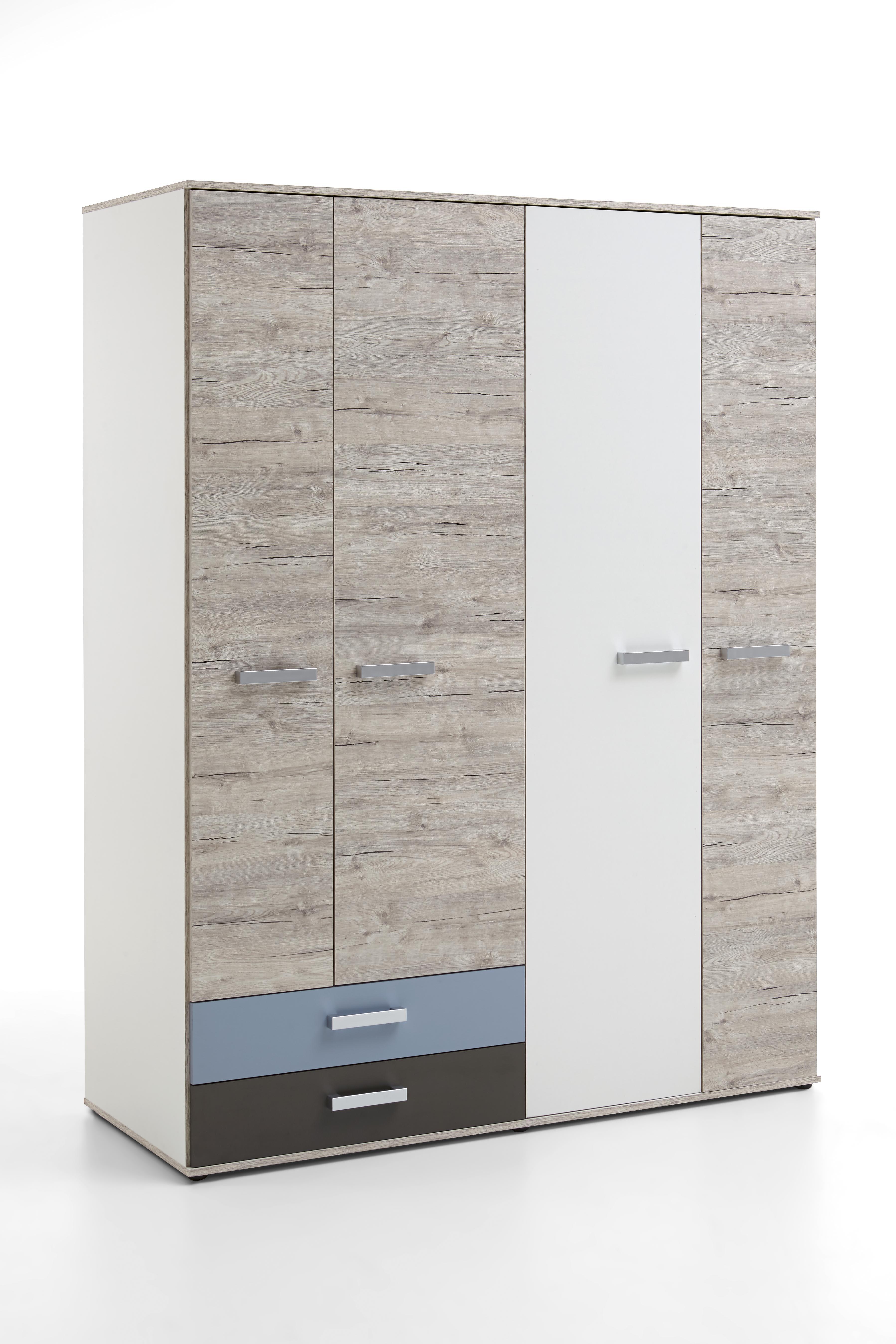 fmd kleiderschrank nona 9 schrank dreht renschrank in sandeiche nb farbig ebay. Black Bedroom Furniture Sets. Home Design Ideas