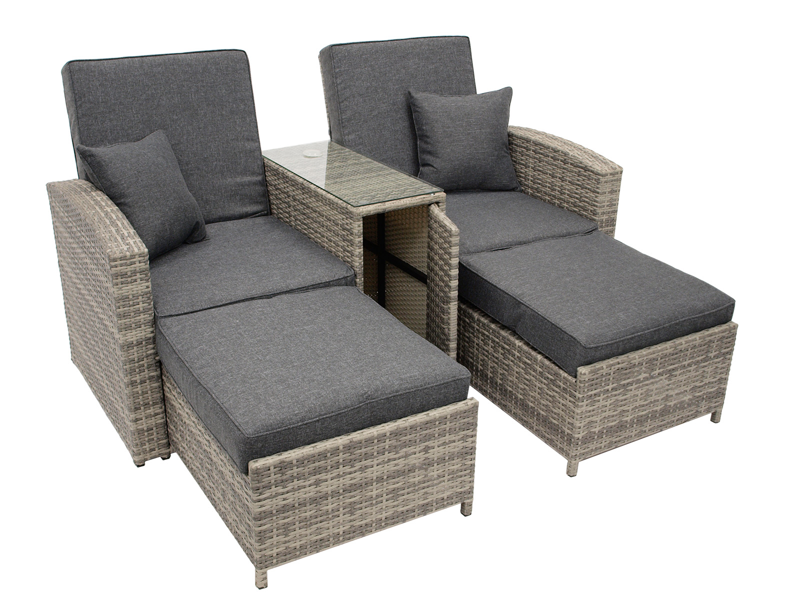 funktions doppelliege matera liegesofa sonnenliege gartenliege outdoor liege ebay. Black Bedroom Furniture Sets. Home Design Ideas