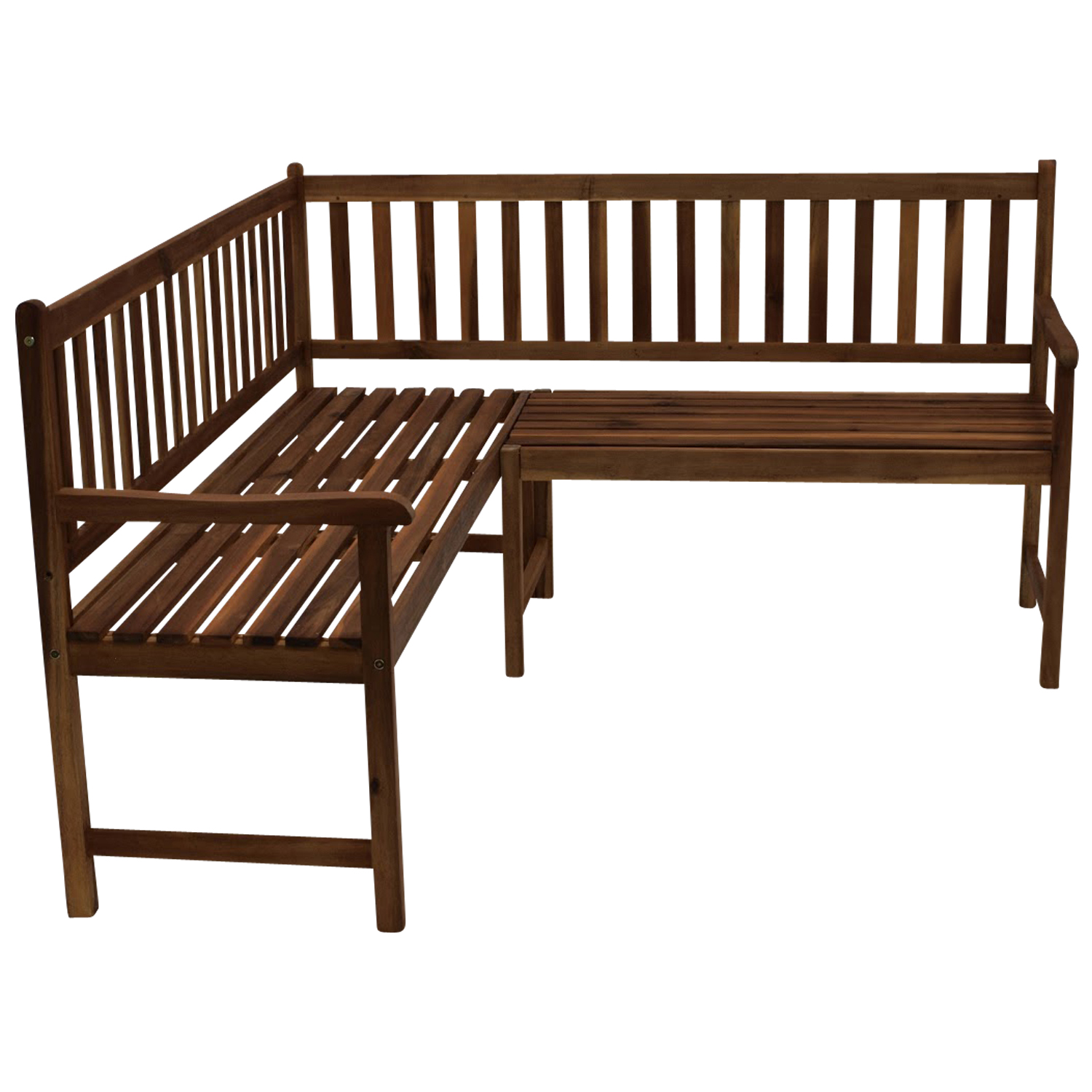 xl eckbank 150 x 150 cm gartenbank akazienholz fsc garten bank outdoor balkon ebay. Black Bedroom Furniture Sets. Home Design Ideas