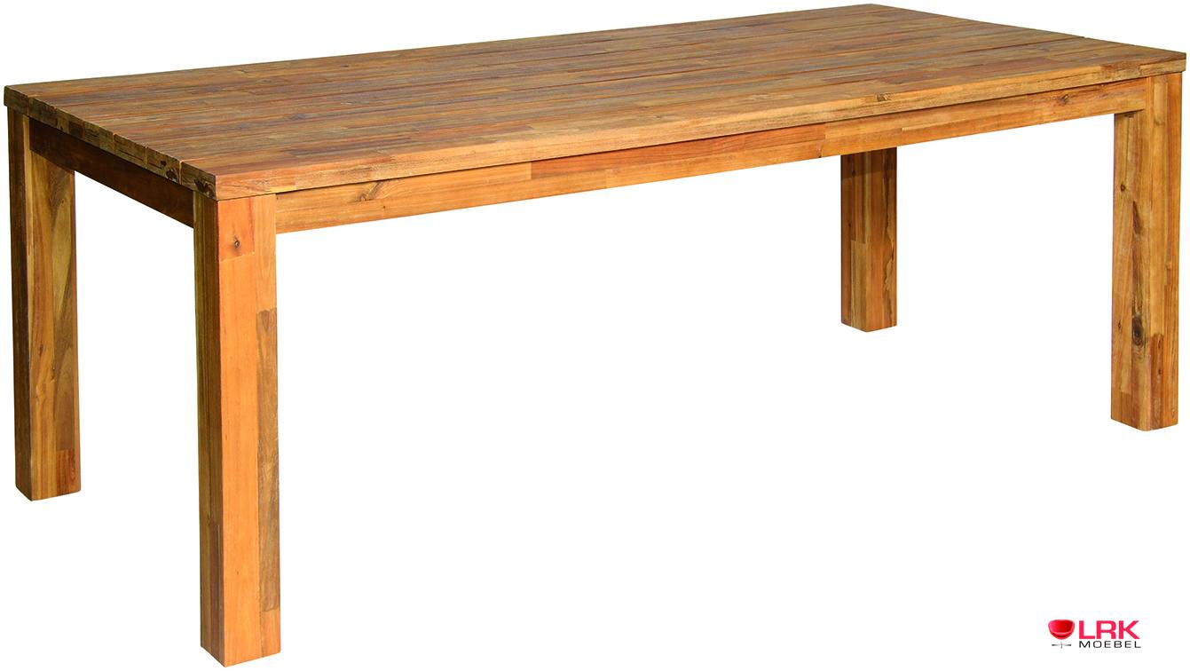 57420 acamp tisch avellino gartentisch garten esstisch akazienholz 220 x 100 cm ebay. Black Bedroom Furniture Sets. Home Design Ideas