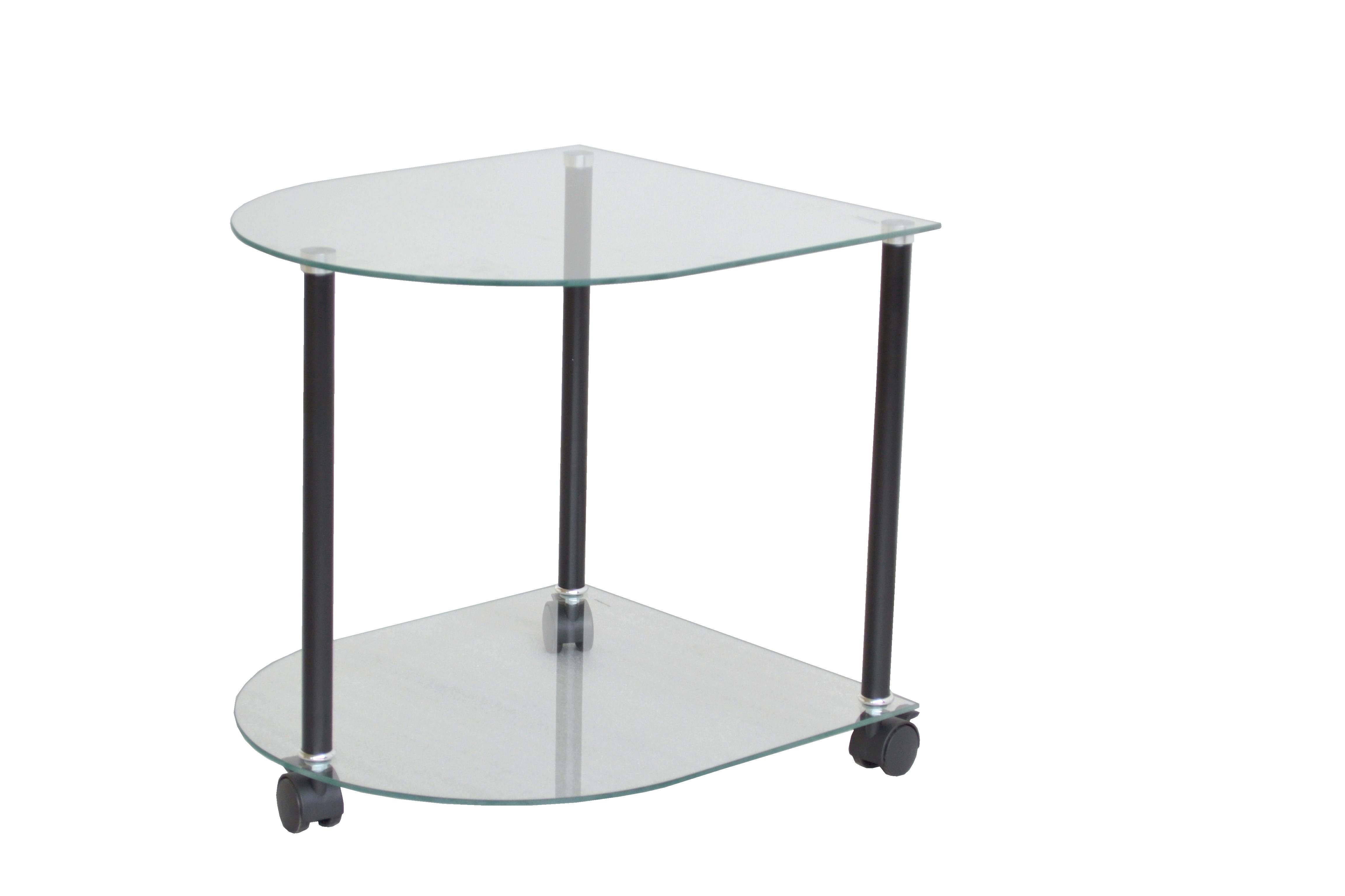 2974 beistelltisch mit rollen glas ziertisch ablage glas rollbar tisch ebay