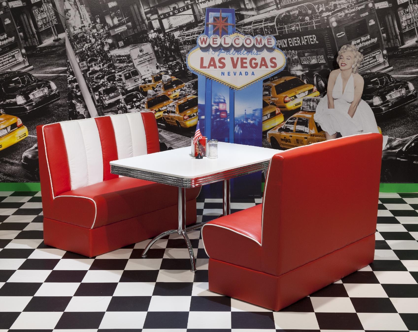 bankgruppe vegas king 4 american diner 50er jahre retro. Black Bedroom Furniture Sets. Home Design Ideas