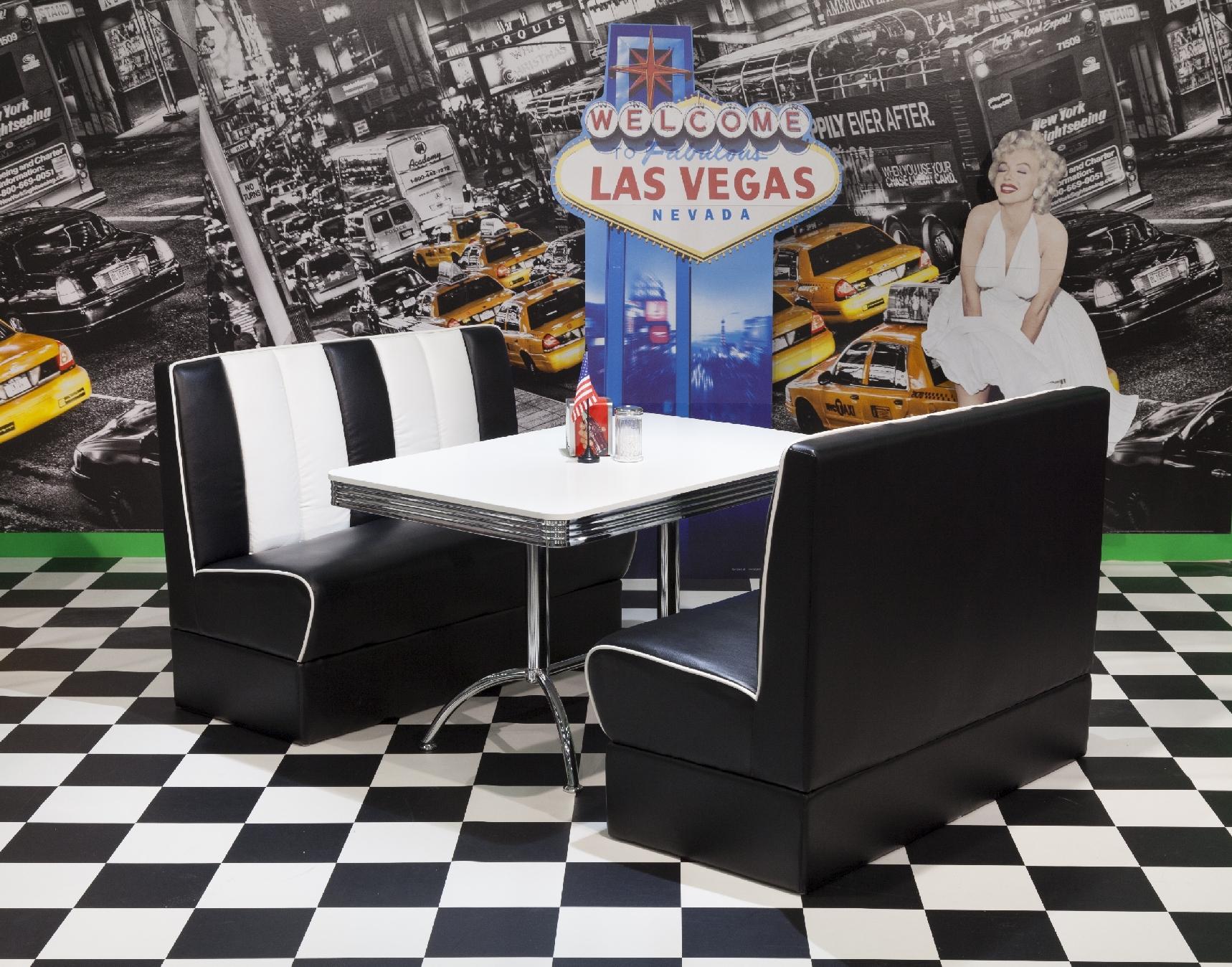 bankgruppe vegas king 4 american diner 50er jahre retro 3. Black Bedroom Furniture Sets. Home Design Ideas