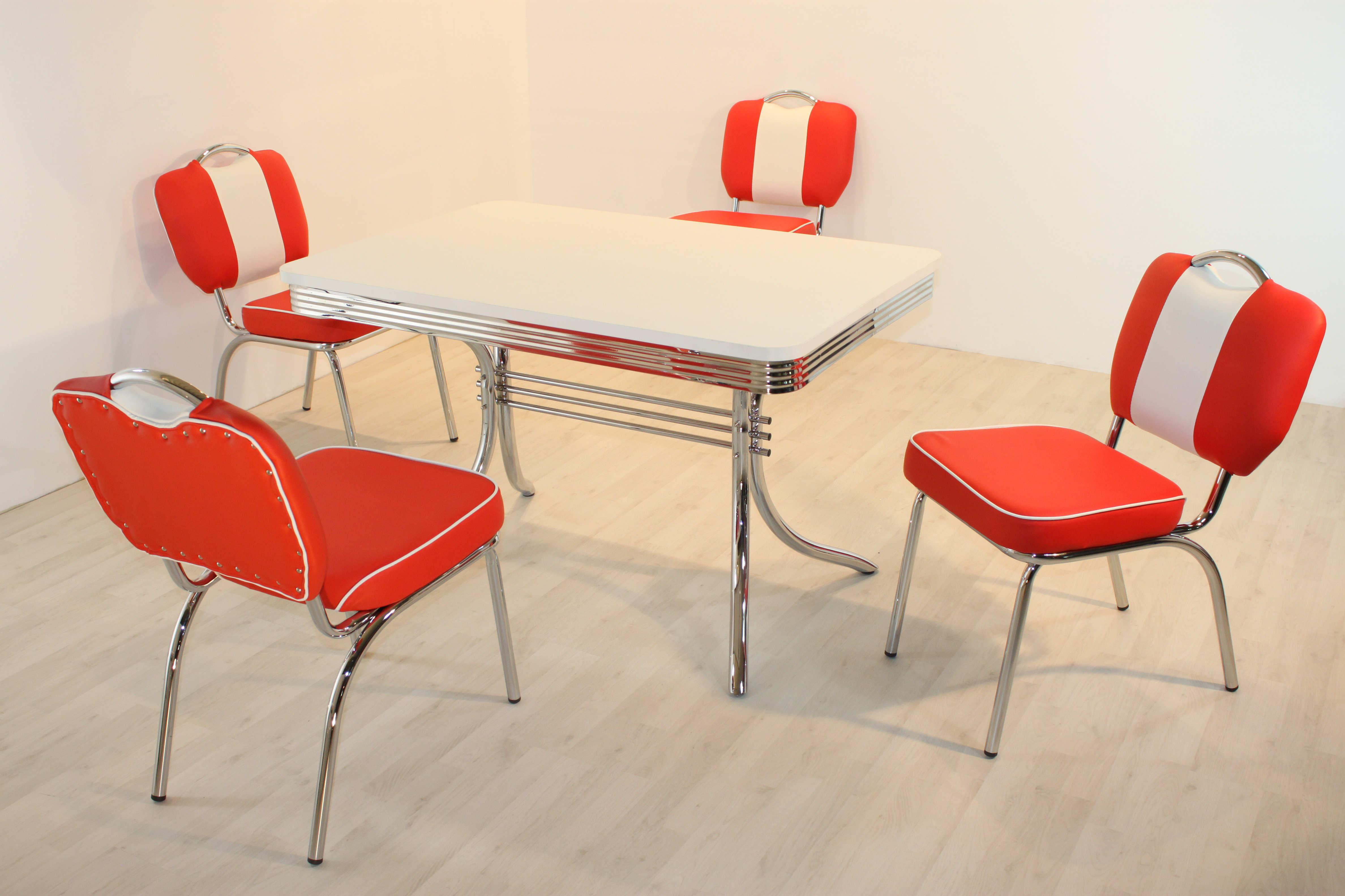 bistrogruppe paul king 6 american diner 50er jahre retro. Black Bedroom Furniture Sets. Home Design Ideas