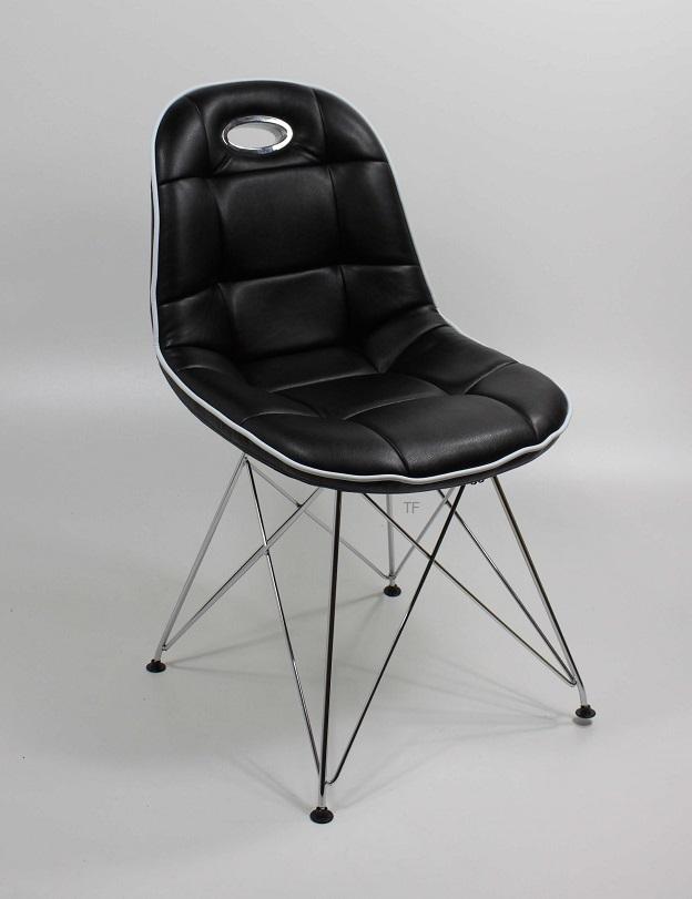 Schalenstuhl anja 2er set stuhlset schwarz pep designer for Schalenstuhl schwarz